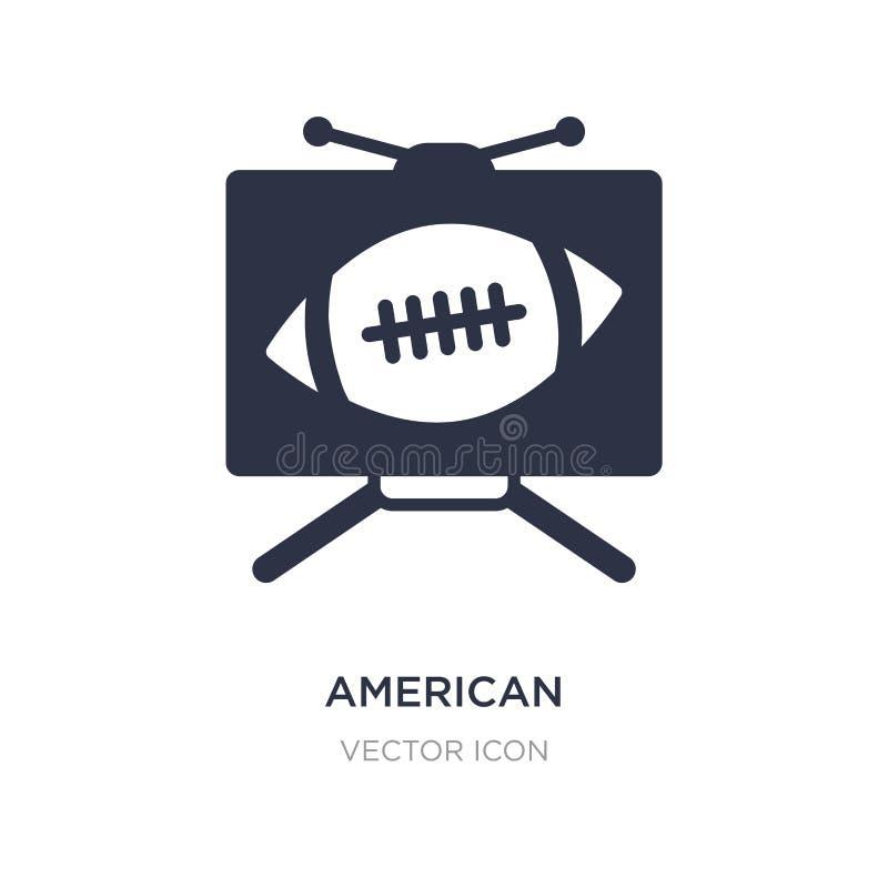 icono de la televisión del fútbol americano en el fondo blanco Ejemplo simple del elemento del concepto del fútbol americano libre illustration