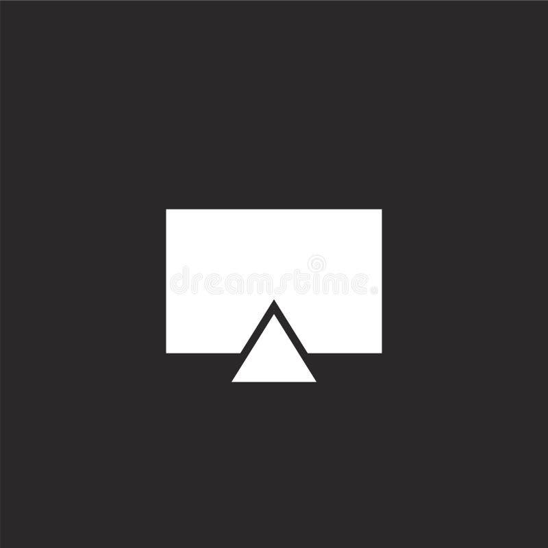Icono de la televisi?n Icono llenado de la televisión para el diseño y el móvil, desarrollo de la página web del app icono de la  libre illustration