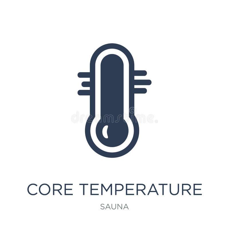 Icono de la temperatura de base Icono plano de moda de la temperatura de base del vector stock de ilustración