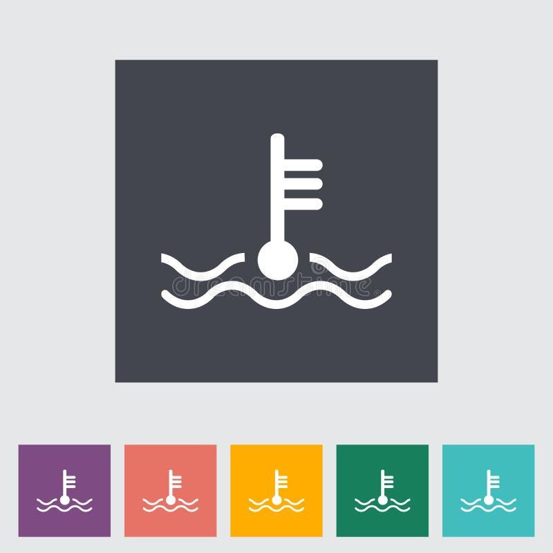 Icono de la temperatura del motor libre illustration