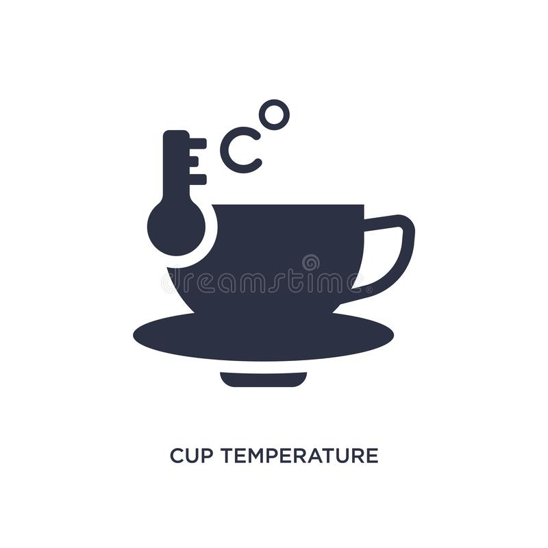 icono de la temperatura de la taza en el fondo blanco Ejemplo simple del elemento del concepto de la medida libre illustration