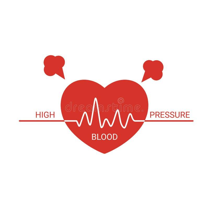 Icono de la tensión arterial alta stock de ilustración