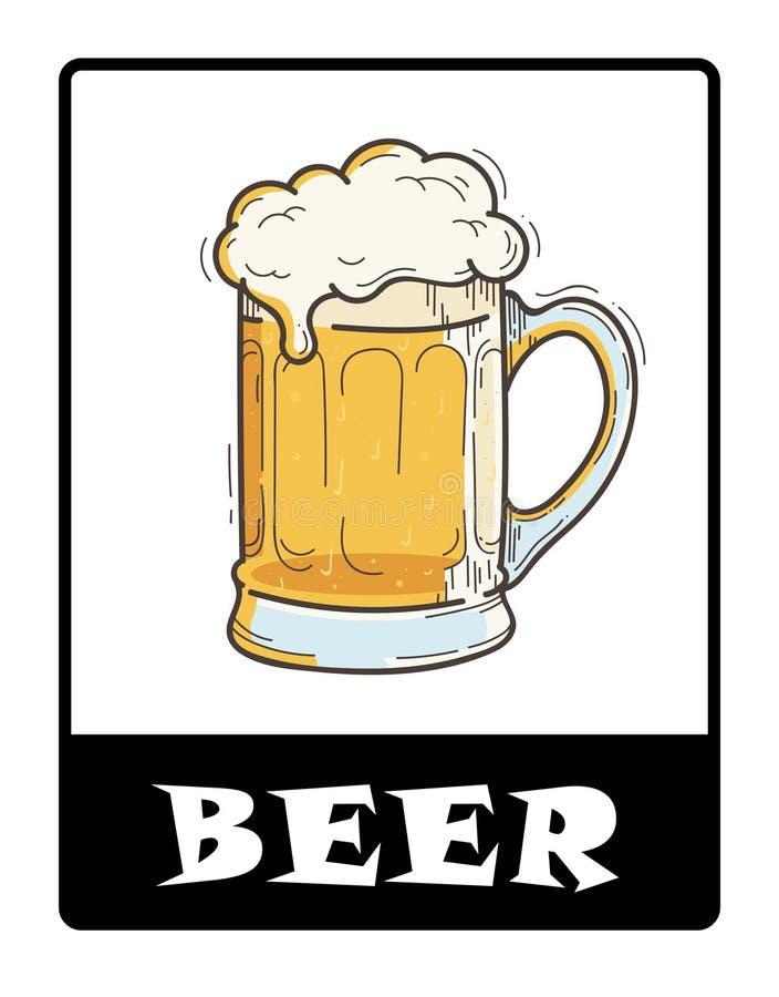 Icono de la tienda de la cerveza ilustración del vector