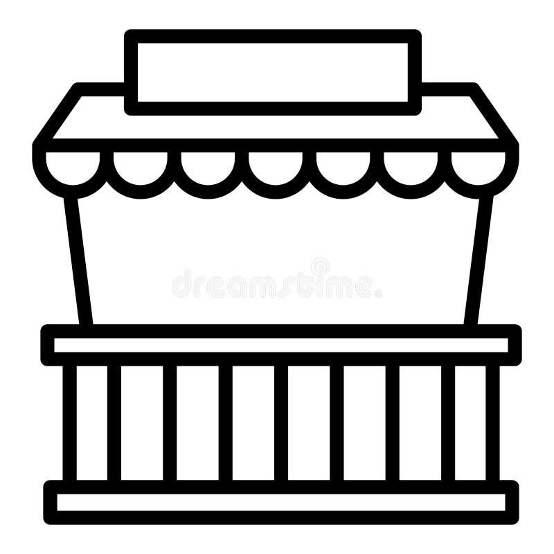 Icono de la tienda del quiosco de la calle, estilo del esquema libre illustration