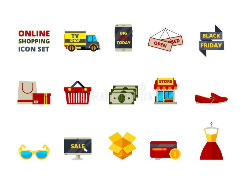 Icono de la tienda del web Vector grande de las tarjetas y del dinero del smartphone de las ventas de la tienda del pago del come libre illustration
