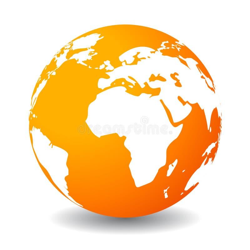 Icono de la tierra ilustración del vector