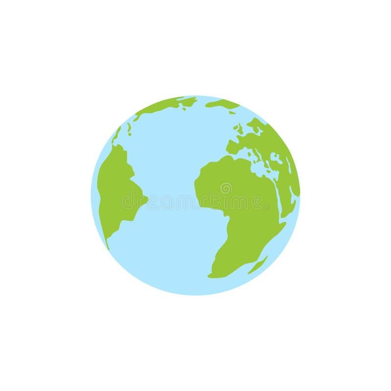 Icono de la tierra del planeta Icono plano de la tierra del planeta ejemplo del vector para la bandera de la web, ilustración del vector