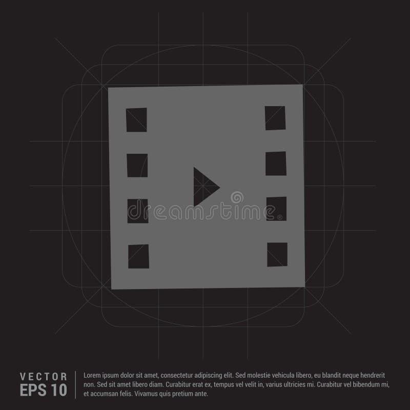 Icono de la tira de la película stock de ilustración