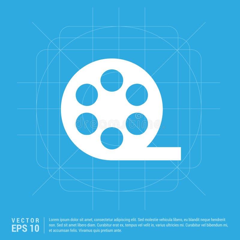 Icono de la tira de la película ilustración del vector