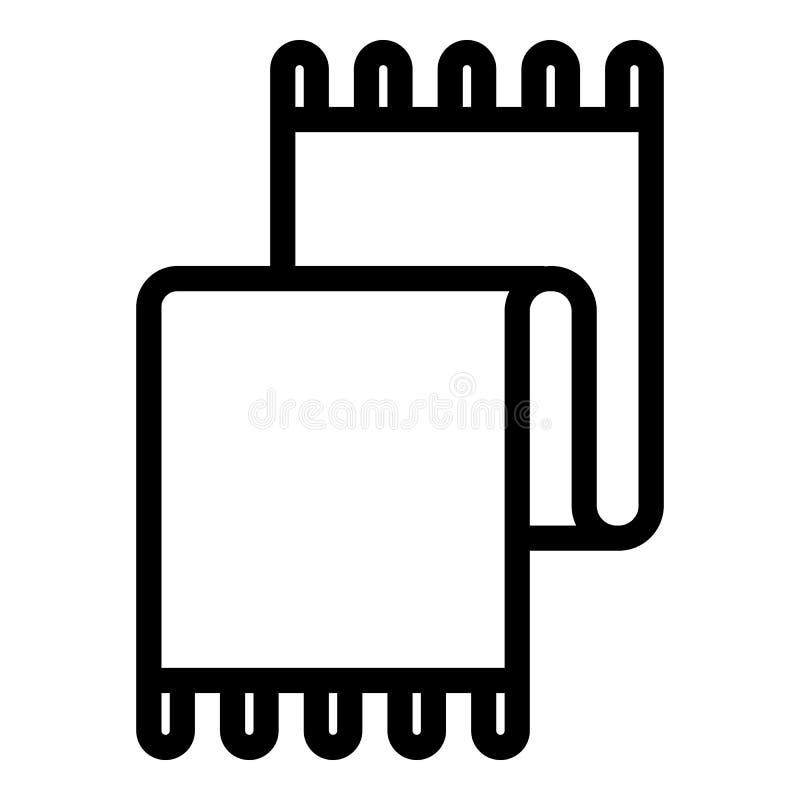 Icono de la toalla de cocina, estilo del esquema stock de ilustración
