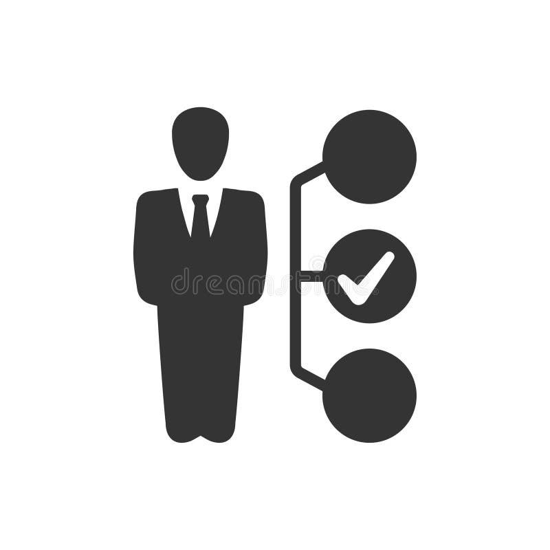 Icono de la toma de decisión del negocio stock de ilustración