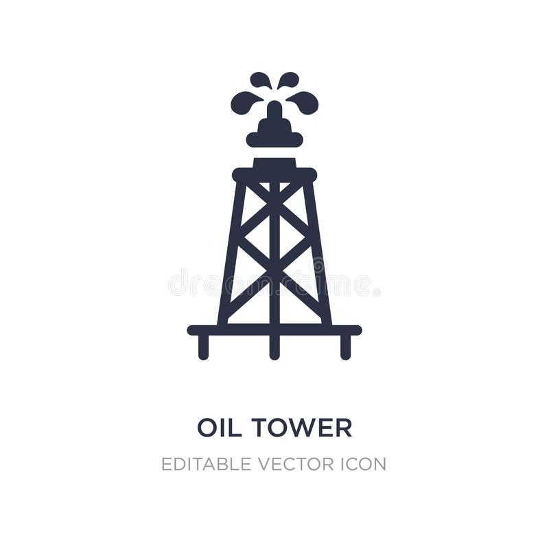 icono de la torre del aceite en el fondo blanco Ejemplo simple del elemento del otro concepto ilustración del vector