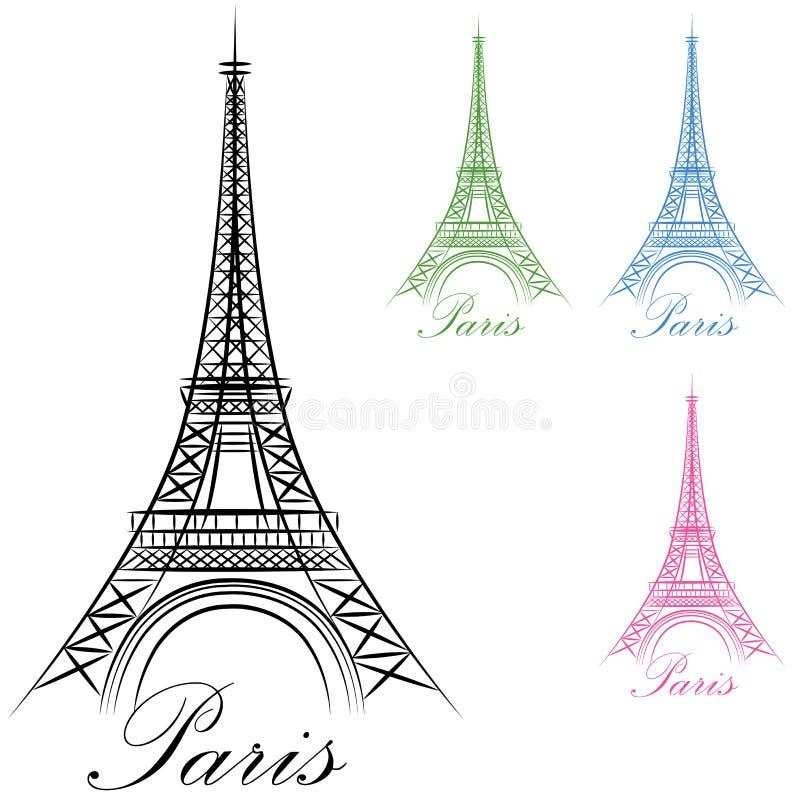 Icono de la torre Eiffel de París stock de ilustración