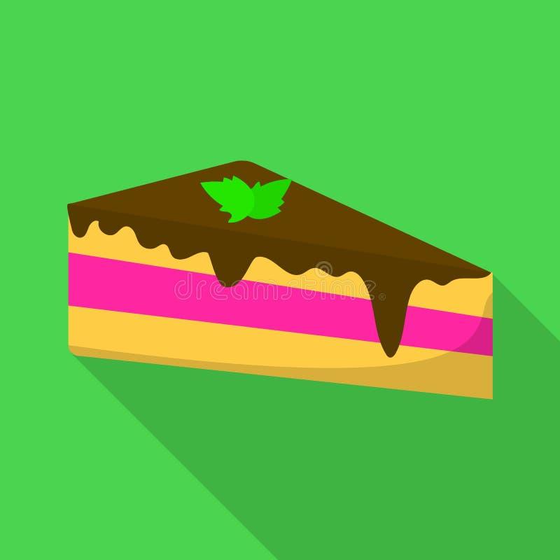 Icono de la torta, estilo plano ilustración del vector