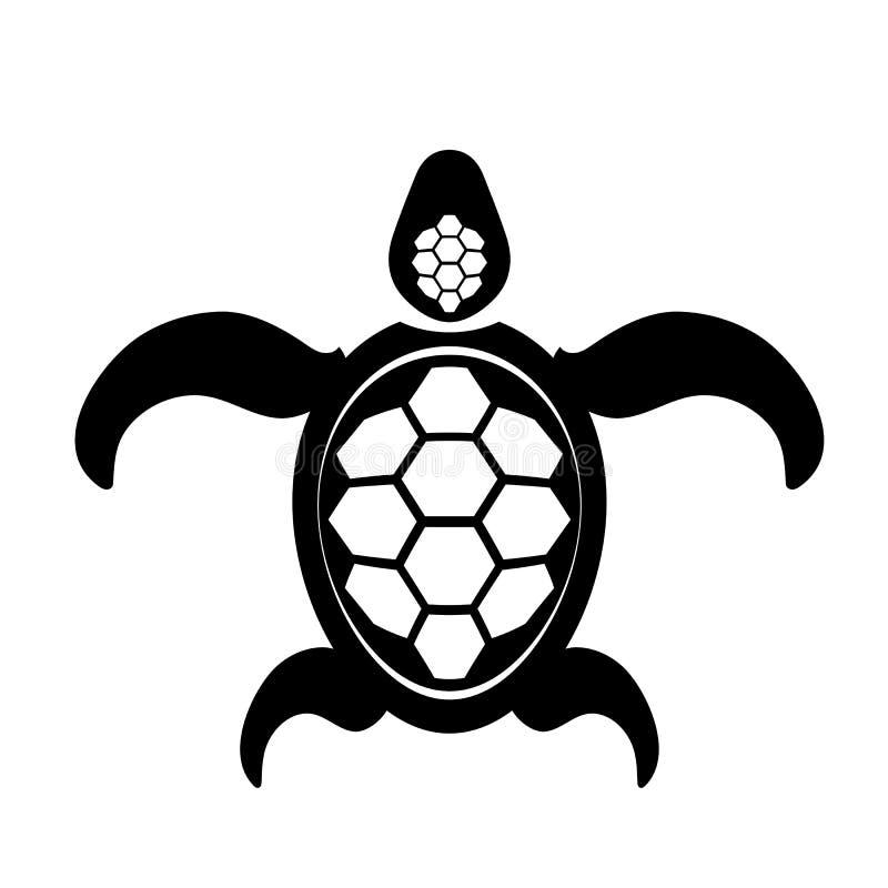 Icono de la tortuga del océano Logotipo animal simple gráfico del mar stock de ilustración