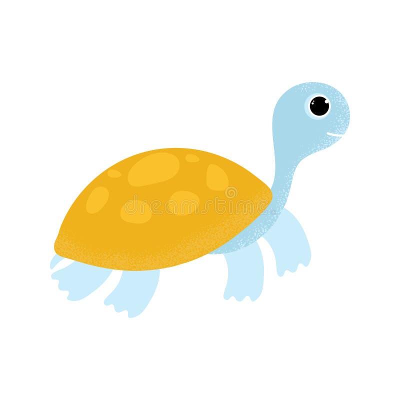 Icono de la tortuga de la historieta en estilo plano moderno libre illustration
