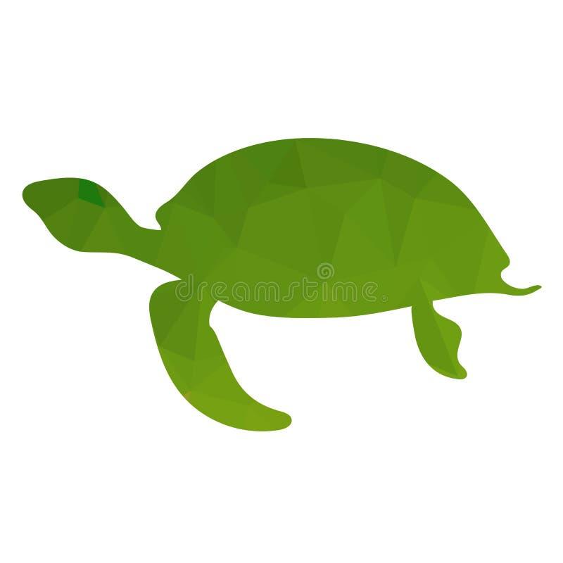 Icono de la tortuga verde del océano libre illustration
