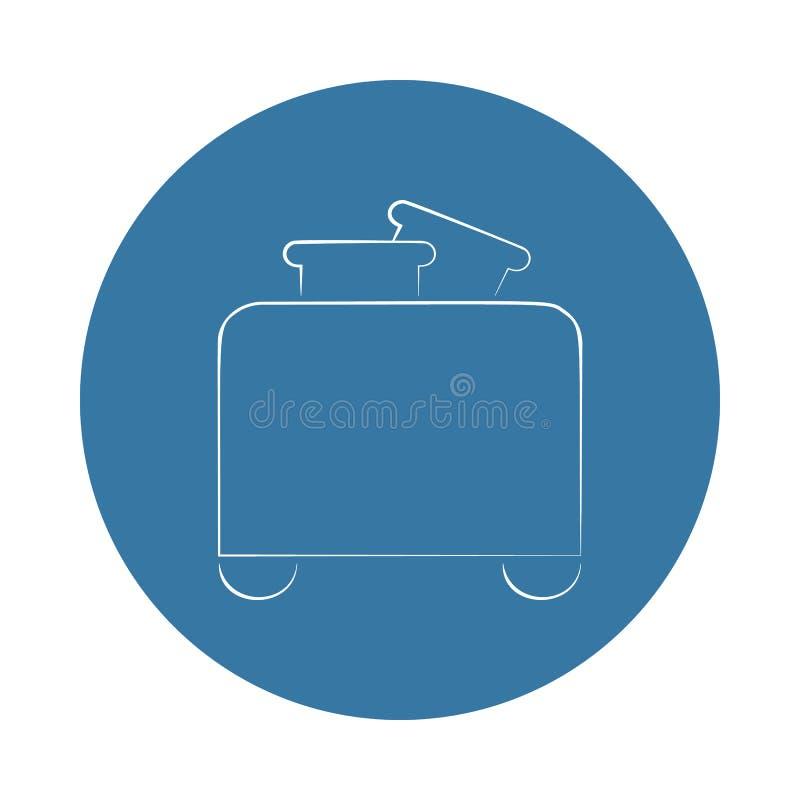 icono de la tostadora del logotipo Elemento de los electro iconos para los apps móviles del concepto y del web El icono de la tos stock de ilustración