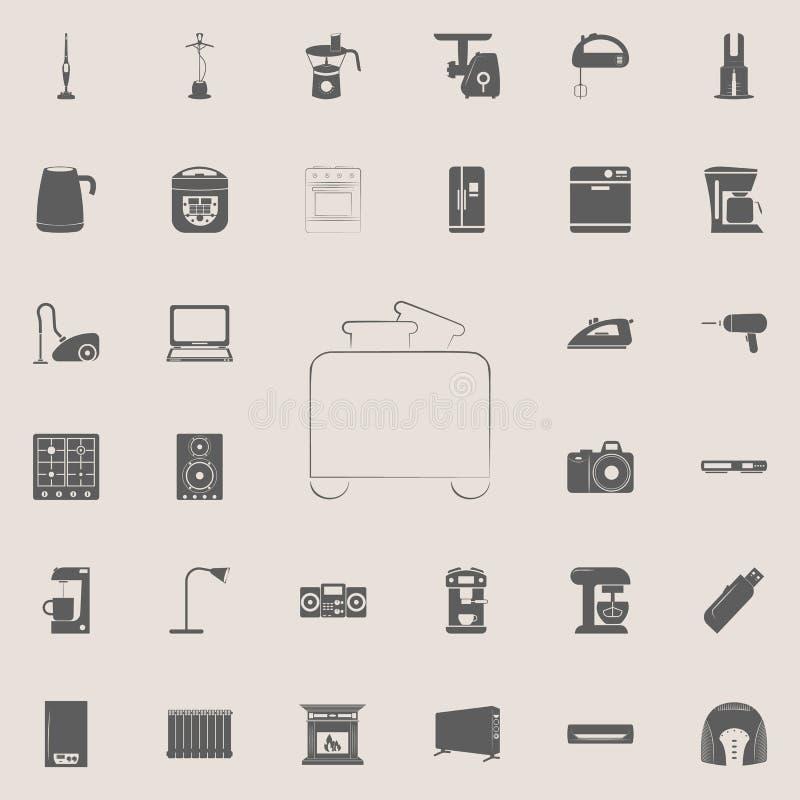 icono de la tostadora del logotipo Sistema universal de los electro iconos para el web y el móvil libre illustration