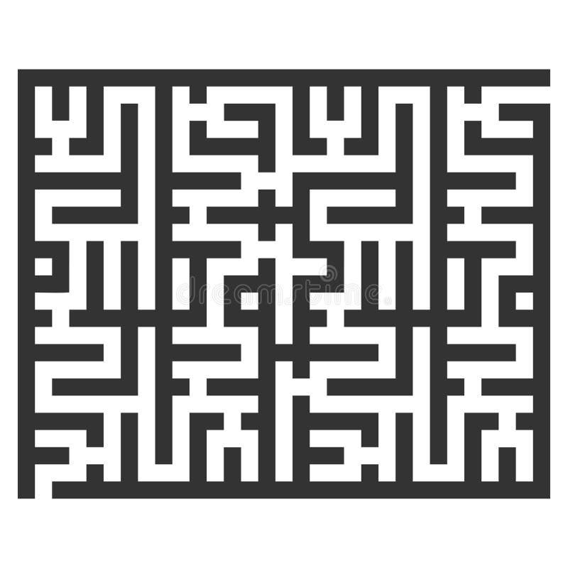 Icono de la trama del laberinto V4 stock de ilustración