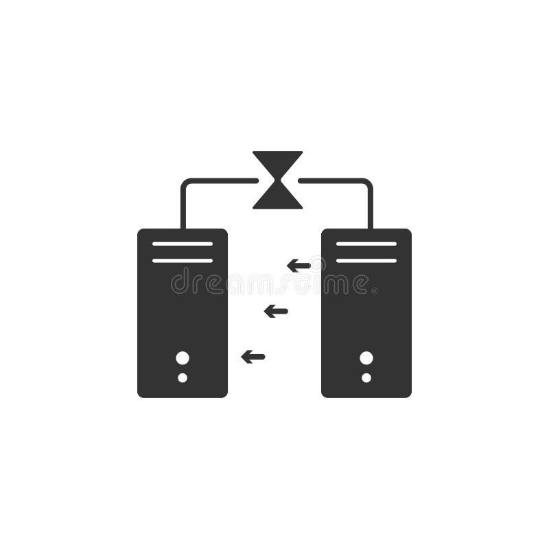 Icono de la transferencia de archivos Elemento del icono de la seguridad de Internet para los apps móviles del concepto y de la w libre illustration
