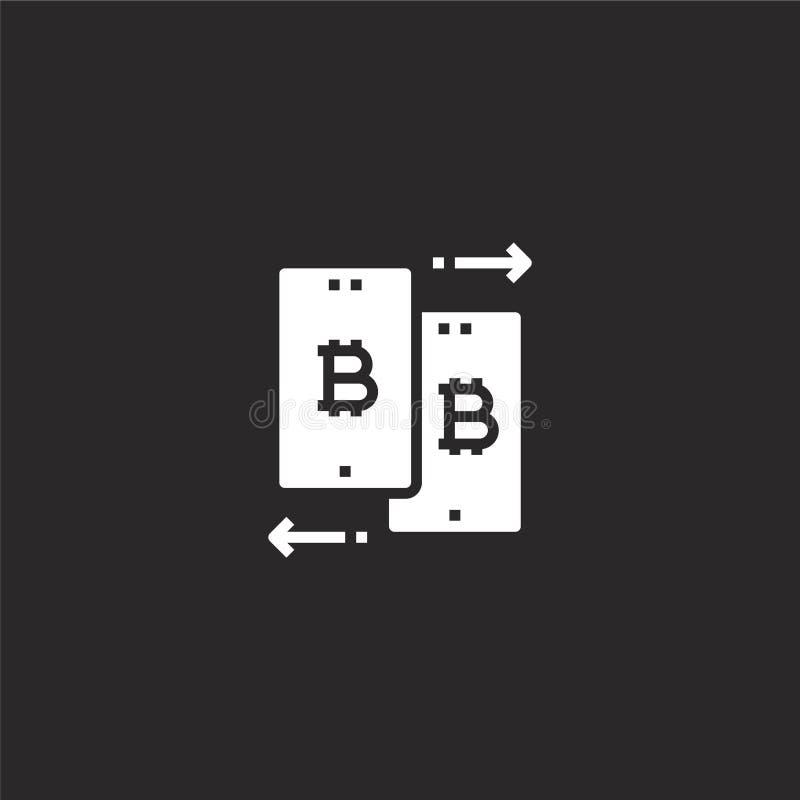 Icono de la transferencia de datos Icono llenado de la transferencia de datos para el diseño y el móvil, desarrollo de la página  libre illustration