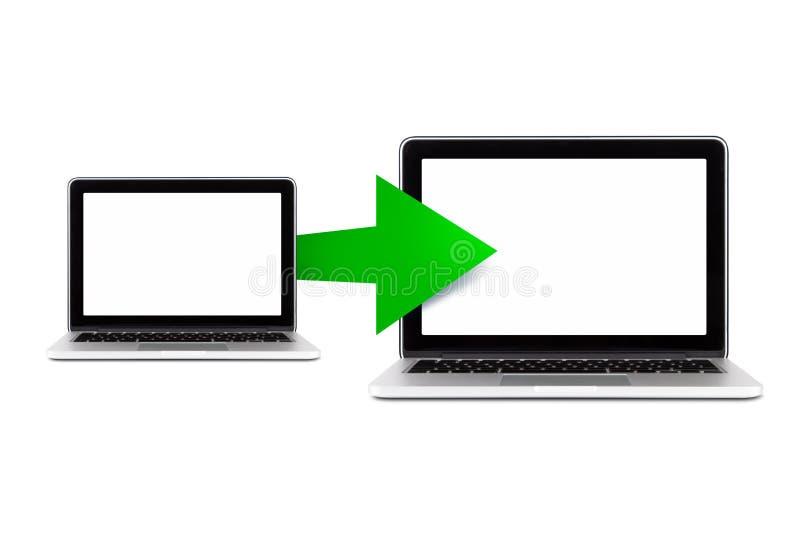 Icono de la transferencia de datos ilustración del vector
