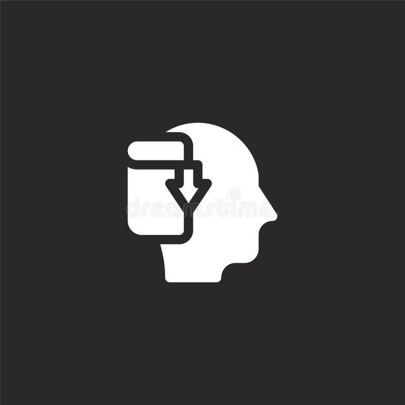 Icono de la transferencia directa Icono llenado de la transferencia directa para el diseño y el móvil, desarrollo de la página we ilustración del vector