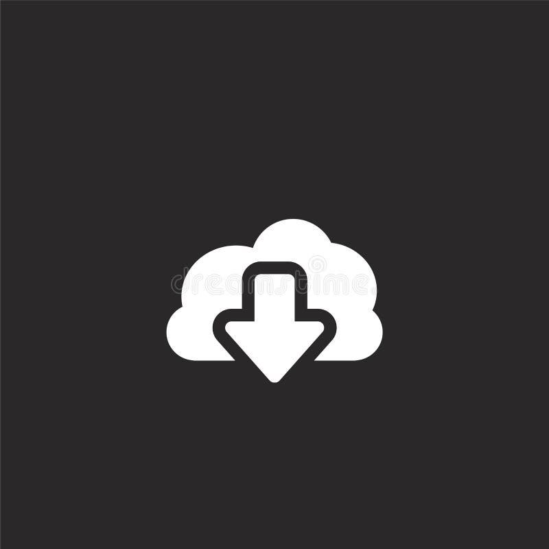 Icono de la transferencia directa Icono llenado de la transferencia directa para el diseño y el móvil, desarrollo de la página we stock de ilustración