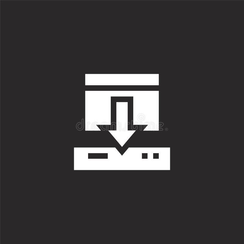Icono de la transferencia directa Icono llenado de la transferencia directa para el diseño y el móvil, desarrollo de la página we libre illustration