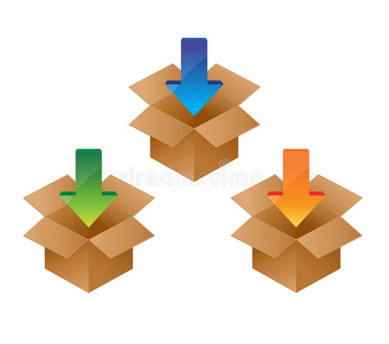 Icono de la transferencia directa Símbolo de los datos de Internet de la carga stock de ilustración