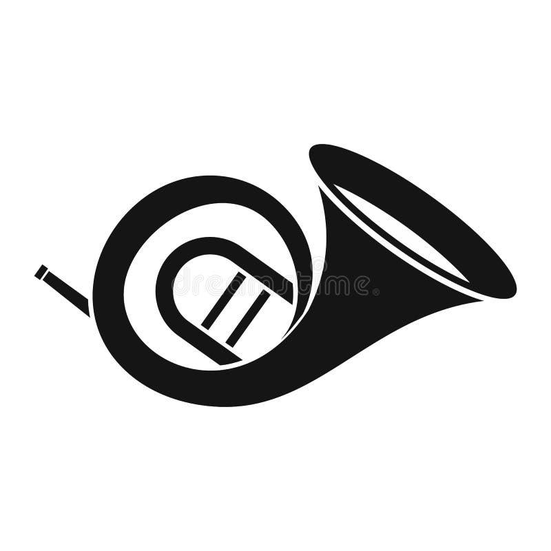 Icono de la trompa, estilo simple stock de ilustración