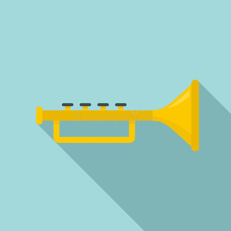Icono de la trompeta, estilo plano stock de ilustración