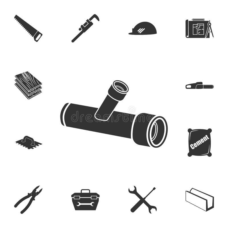 Icono de la trompeta Sistema detallado de iconos de los materiales de construcción Diseño gráfico de la calidad superior Uno de l stock de ilustración