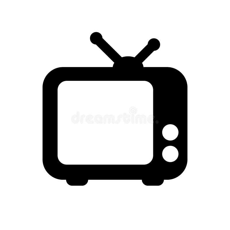 Icono de la TV stock de ilustración