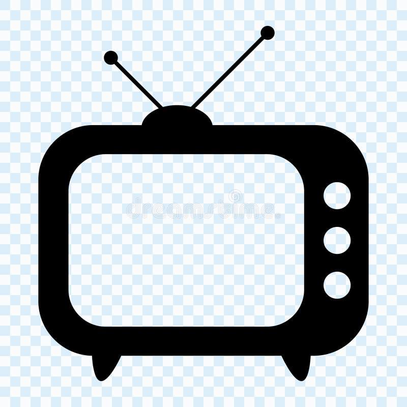 Icono de la TV, TV retra libre illustration