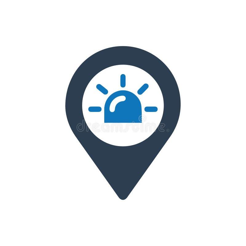 Icono de la ubicación de la ambulancia ilustración del vector