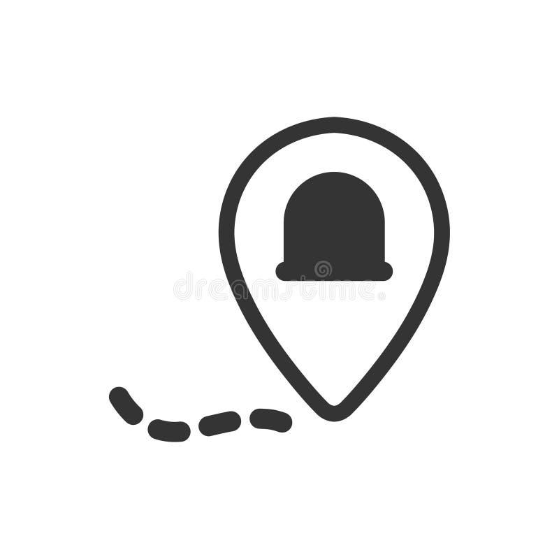 Icono de la ubicación de la ambulancia libre illustration