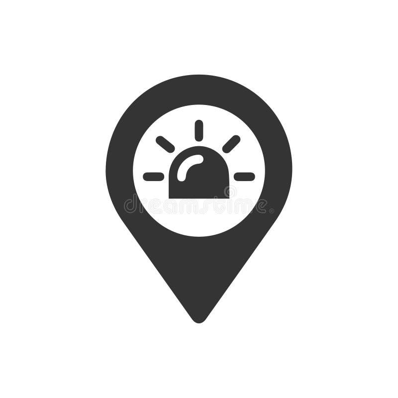 Icono de la ubicación del servicio de ambulancia libre illustration