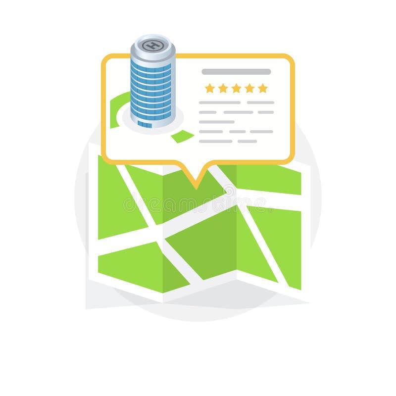 Icono de la ubicación Localización de su negocio ilustración del vector