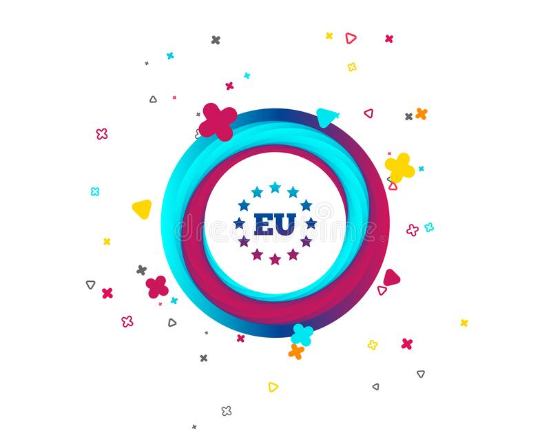 Icono de la unión europea La UE protagoniza símbolo libre illustration