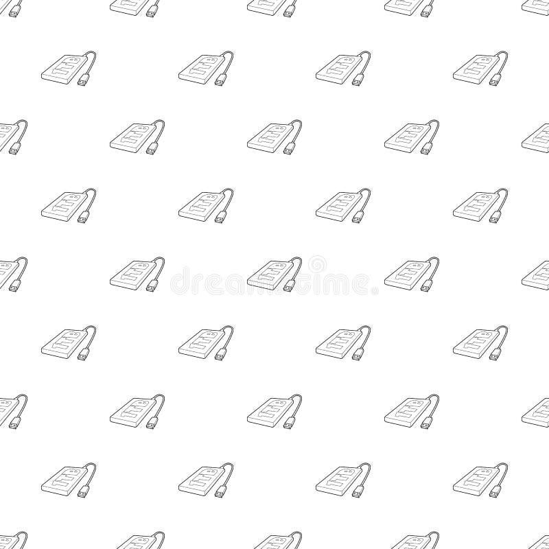 Icono de la unidad de disco duro externa 1tb, estilo del esquema stock de ilustración