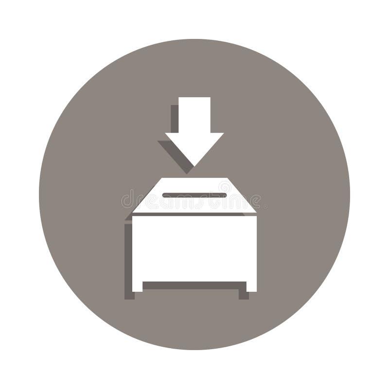 icono de la urna en estilo de la insignia Uno del icono de la colección de la elección se puede utilizar para UI, UX libre illustration