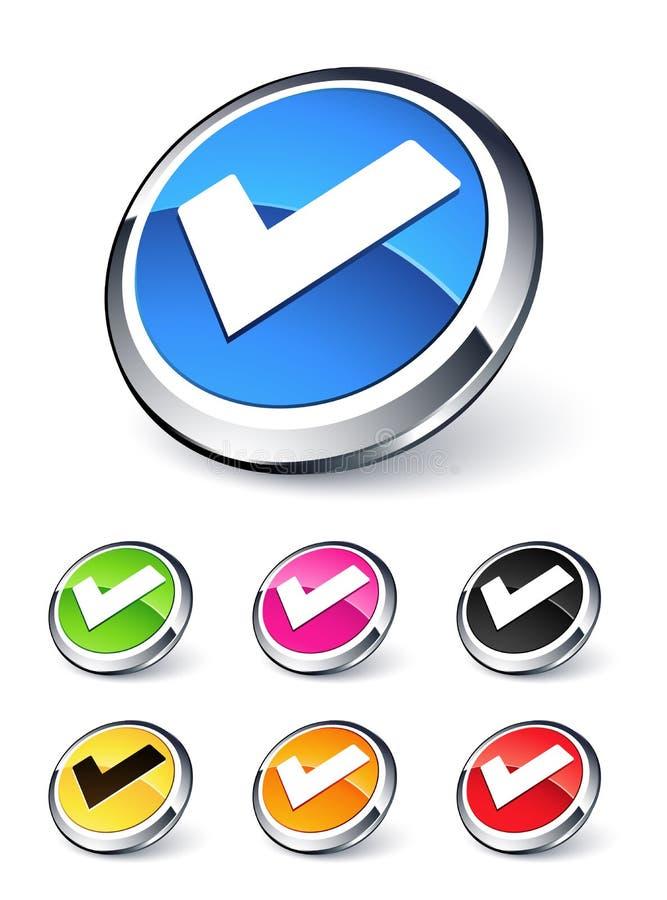 Icono de la validación ilustración del vector