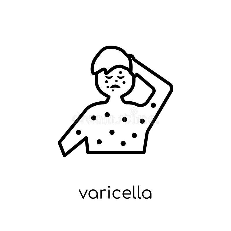 Icono de la varicela Icono linear plano moderno de moda de la varicela del vector ilustración del vector