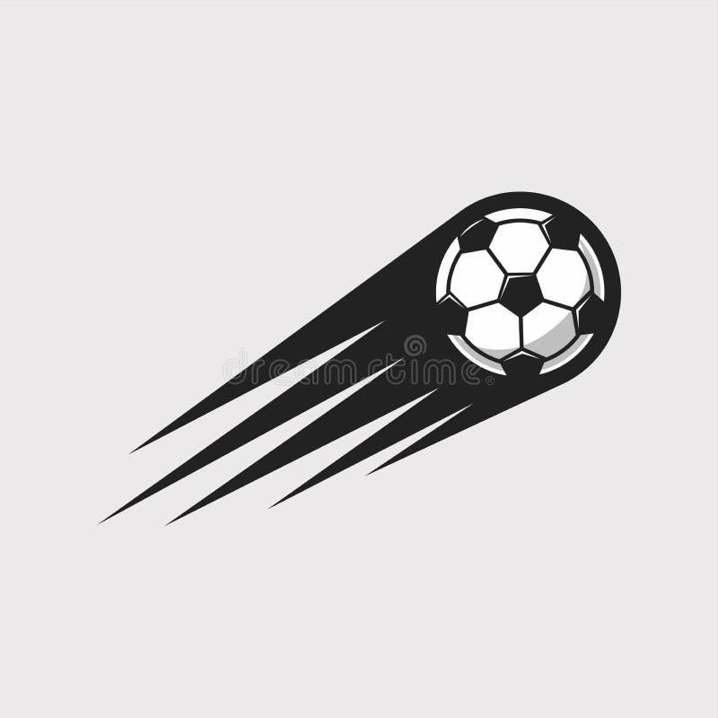 Icono de la velocidad del fútbol stock de ilustración