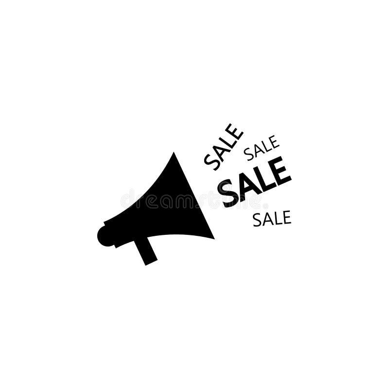 Icono de la venta del cuerno Elemento del icono popular de la venta Diseño gráfico de la calidad superior Muestras, icono para lo stock de ilustración