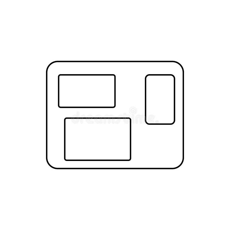 Icono de la ventana Elemento de la web para el concepto y el icono móviles de los apps de la web Línea fina icono para el diseño  libre illustration