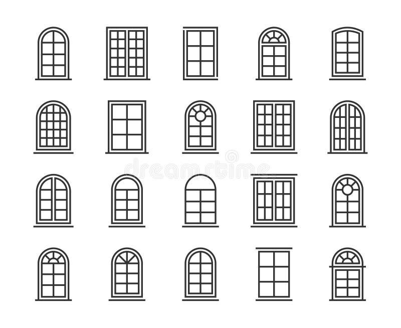 Icono de la ventana Línea sistema de la ventana del icono Movimiento Editable, pixel 64x64 perfecto libre illustration