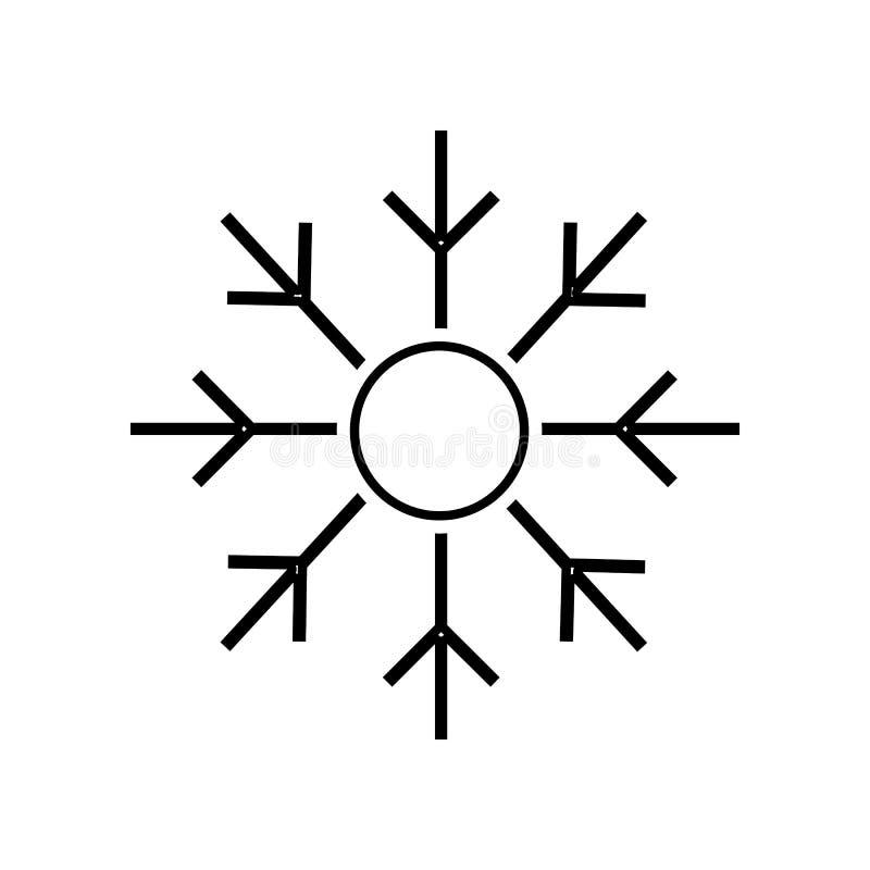 icono de la ventisca Elemento de si para el concepto y el icono móviles de los apps de la web Esquema, l?nea fina icono para el d stock de ilustración